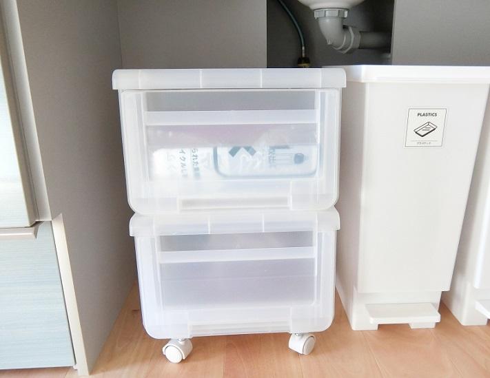 キッチンのプラスチック収納