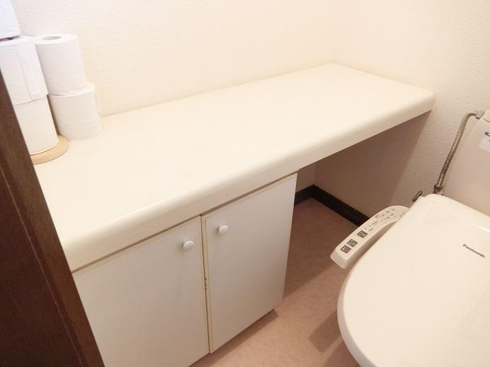 リフォーム前のトイレの厚い棚