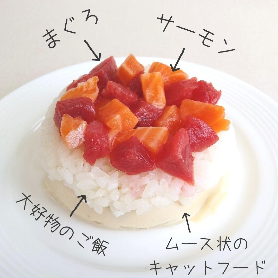 手作りの猫用誕生日ごはんケーキレシピ